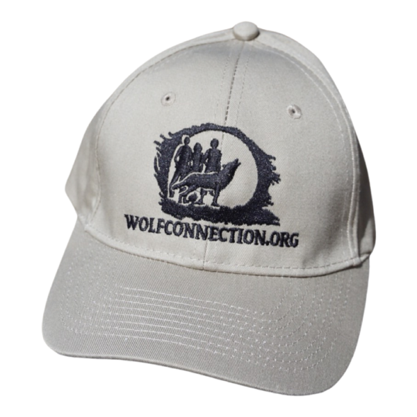 Tan hat with Wolf Connection Patch