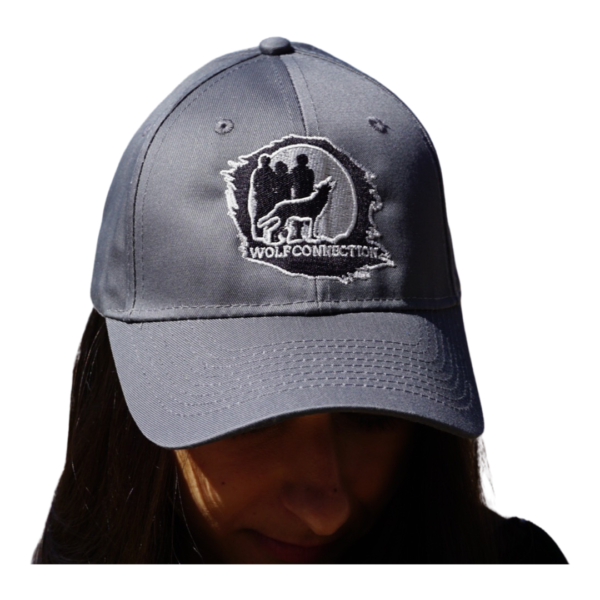 Grey Hat with Wolf Connection Patch